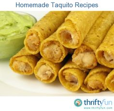 This page contains homemade taquito recipes. These fried Mexican appetizers are not hard to make yourself.