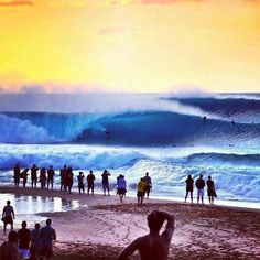 This is the closest you will be while standing on the beach to surfers competing