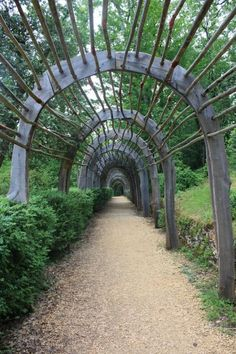 (via arbor . unique and rustic, the arbor at the Gardens of Marqueyssac)