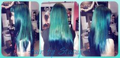 Turquoise hair of La Riche Directions https://www.facebook.com/hair.stacey