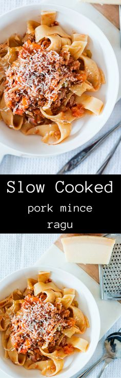 Slow Cooked Minced Pork Ragu. A deliciously comforting meal the whole family will devour