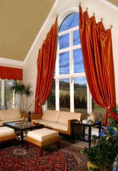 arch window drapes