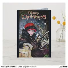 Shop Vintage Christmas Card created by glamourdaze. Vintage Christmas Cards, Holiday Cards, Christmas Gifts, Retro Art, Christmas Shopping, Invitation Cards, Vintage Shops, Paper Texture, Art For Kids