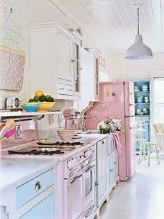 Retro Pastel Kitchen