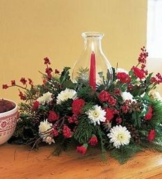 Send flowers to Arlington, Hurst, Euless & Bedford TX with same-day delivery from Bice's Florist. Hurricane Centerpiece, Hurricane Candle Holders, Holiday Centerpieces, Candle Centerpieces, Holiday Gift Guide, Holiday Gifts, Christmas Gifts, Christmas Tree, Holiday Decor