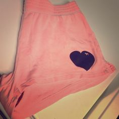 PINK shorts! Light pink short shorts, I only wore them to to sleep, good condition! PINK Victoria's Secret Shorts