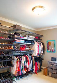 Closet organization.