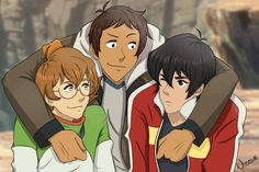 Hey, guys!- Lance, Pidge and Keith from Voltron Legendary Defender