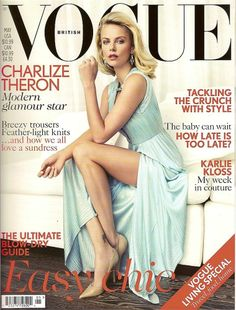 Charlize Theron: 'Vogue UK' May 2012 Cover! Charlize Theron pairs her Versace dress with Jimmy Choo shoes on her first British Vogue cover, on stands April In the May 2012 issue, the actress… Vogue Covers, Vogue Magazine Covers, Vogue Uk, Charlize Theron, Patrick Demarchelier, Stella Dot, Magazine Mode, Versace Dress, Versace Shoes