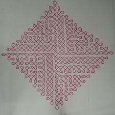 Started enjoying not only drawing a neli kolam but creating new patterns. Indian Rangoli Designs, Rangoli Designs Images, Rangoli Designs With Dots, Beautiful Rangoli Designs, Padi Kolam, Kolam Rangoli, Simple Rangoli, Kolam Dots, Diy Crafts Hacks