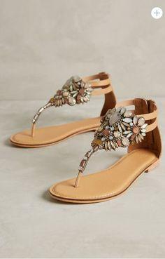 neutral jeweled sandals