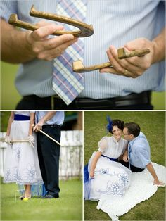 If you are getting married outdoors this summer, reception yard games are a must! They are cheap, adorable, and they keep both kids and adults entertained while you are getting photos taken, or thi…