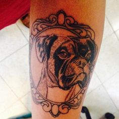 Justos para siempre bebe! Primera sesión #boxer #dog #doglover #instatatto #tatto #pickoftheday