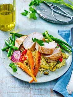 Fein gerieben, wird Blumenkohl zum Low-Carb-Reisersatz. #lowcarb Healthy Food, Healthy Recipes, Brunch Recipes, Food And Drinks, Cauliflowers, Popular Recipes, Healthy Foods, Healthy Eating Recipes, Healthy Eating