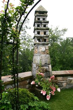 Stone dovecote.........love. This as a water fountain would be gorgeous.