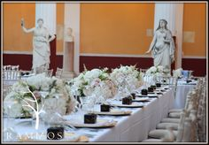 The Art of Romance @ Achillion Palace Event by Victoria Martini Events Floral Design : Rammos-Floral Structures  www.rammosflowers.gr