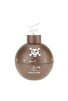 Urban Outfitters Bomb Timer: For my kitchen. Despite the fact that I don't cook much. Kitchen Timers, Tech Toys, Dinnerware Sets, Kitchen Gadgets, Kitchen Stuff, Cool Items, Home Brewing, Potpourri