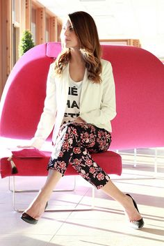 floral pants for night