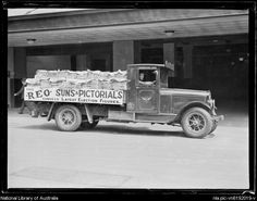 Sun newspaper truck filled with newspapers, Sydney, ca. 1920