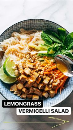Asian Recipes, New Recipes, Vegetarian Recipes, Cooking Recipes, Healthy Recipes, Healthy Dinners, Fast Recipes, Vermicelli Salad, Vermicelli Noodles