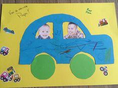 Knutselwerk voor vaderdag  Tags: peuter knutselen vaderdag auto