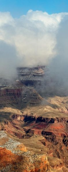 Winter storm at the North Rim of Grand Canyon National Park in Arizona • photo: Troy Montemayor on FineArtAmerica