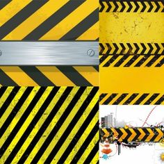 With a pattern vector material warning