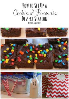 How to Set Up a Cookie and Brownie Dessert Station