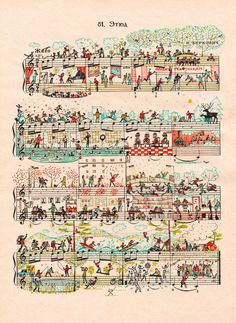 'Etude 81' by people too on artflakes.com as poster or art print -What a clever mix of music and art!