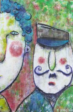 Abstract Couple by Debbie Crawford