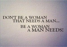 Be a woman...