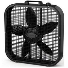 Lasko Decor Colors 20 In. Box Fan - Black - Lasko Decor Colors 20 In. Box Fan features three quiet speeds for high volume air movement. The rounded corners offer provided safety while the slim design allows for easy placement no mat Hunter Douglas, Window Fans, Portable Fan, Geek Squad, D 20, Best Fan, Color Box, Smart Design, Black Box