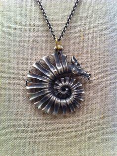 Handmade spiral seahorse Dana Schneider