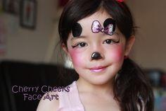 Minnie Mouse   --    Cherry Cheek Face Art   --