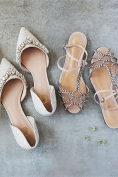Lotti Lace Flats + sparkling sandals from BHLDN