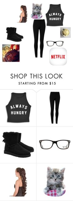 """dedacated o my friend (BFF) angie"" by maryjsullivan on Polyvore featuring Max Studio, UGG Australia and Ray-Ban"