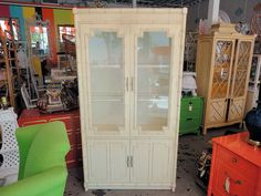 Vintage Thomasville Faux Bamboo Cabinet