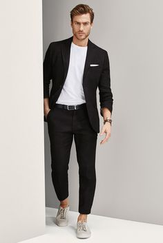 Jason Morgan for Massimo Dutti - NYC Limited Collection - Black Linen suit