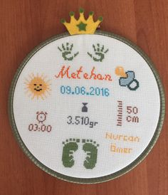 Diy Embroidery Designs, Hand Embroidery Videos, Hand Embroidery Patterns, Cross Stitch Embroidery, Cross Stitch Designs, Crochet Baby, Needlework, Crafts, Baby Washcloth