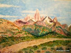 GALERIA PALOMO MARIA: BORDEANDO EL CERRO Patagonia, Painting, Art, Landscape Paintings, Argentina, Art Background, Painting Art, Kunst, Paintings