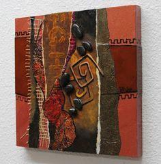 "CAROL NELSON FINE ART BLOG: Mixed Media Metal Collage, ""Copper and Rust"" © Carol Nelson Fine Art"