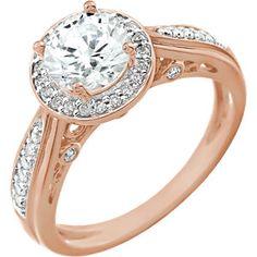 Rose Gold Diamond Engagement Ring  Item #652713