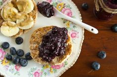 20 Minute Blueberry Chis Seed Jam. The chia seeds help to thicken up the jam but also add protein, fiber and omega 3's!