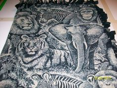 all kinds of Animals on this Comfy Blanket