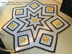 7 point granny rug