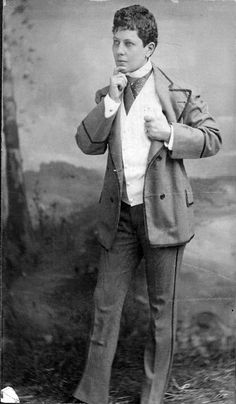 """QUEER HISTORY MONTH, DAY 15:  Ella Wesner (1841-1917) was one of the premiere male impersonators of the late nineteenth century. Wesner, who was known to have female lovers, performed bawdy routines and had a popular act in which she appeared tipsy while getting a shave. The New York Clipperwrote of her in 1870,  """"Nature has liberally endowed her for this specialty with an almost faultless form, a face quite masculine and jet black curling hair, which she wears cut short. She might easily"""