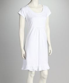 Take a look at this White Sunshine Dress by Fresh Produce on #zulily today!