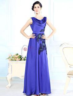 ❀ Lace Royal Blue Long Prom Dresses | Riccol ❤