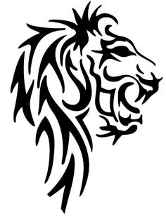 tattoos lion tattoo tribal lion tattoo tribal lion lion tattoos and Lion Back Tattoo, Tribal Lion Tattoo, Cool Tribal Tattoos, Lion Tattoo Design, Lion Design, Tribal Tattoo Designs, Cute Tattoos, Lion Noir, Tatuaje Cover Up