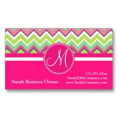 Monogram Aztec Andes Tribal Mountains Chevron Business Card Templates | Pretty Business Cards